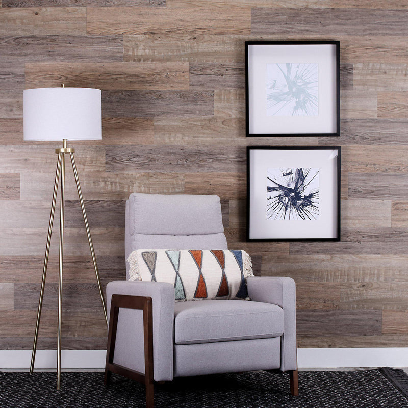 Planks - Reclaimed Driftwood Look Peel and Stick Wall Planks - 5 - Inhabit