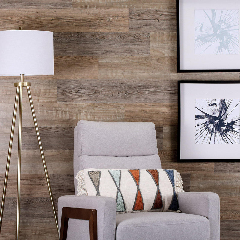 Planks - Reclaimed Driftwood Look Peel and Stick Wall Planks - 3 - Inhabit