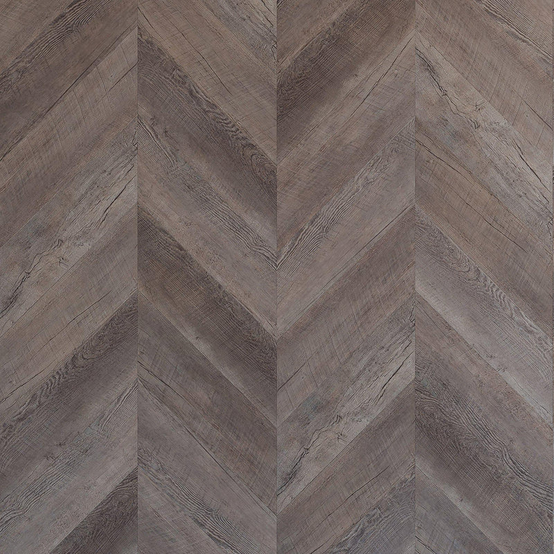 Variplank - Reclaimed Gray Oak Peel + Stick Wood Look Herringbone Variplanks - 1 - Inhabit