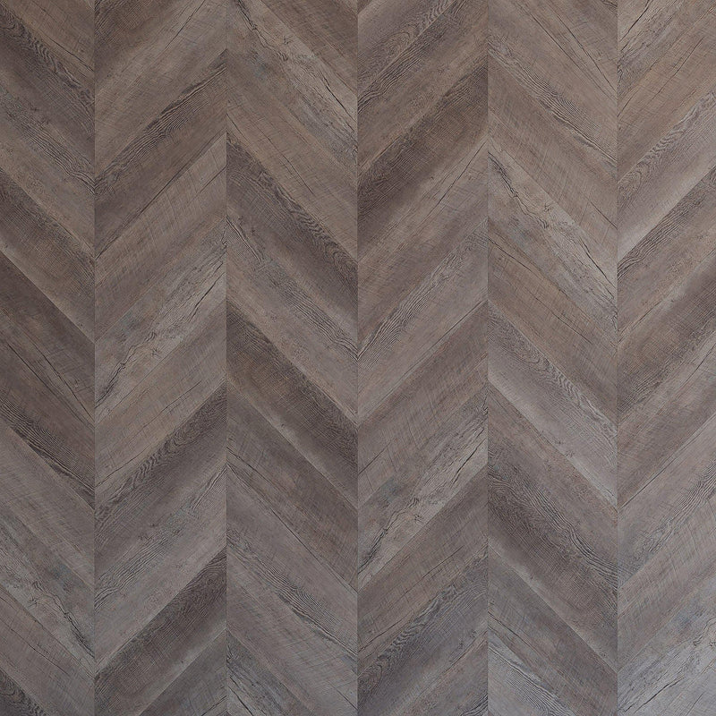 Variplank - Reclaimed Gray Oak Peel + Stick Wood Look Herringbone Variplanks - 4 - Inhabit