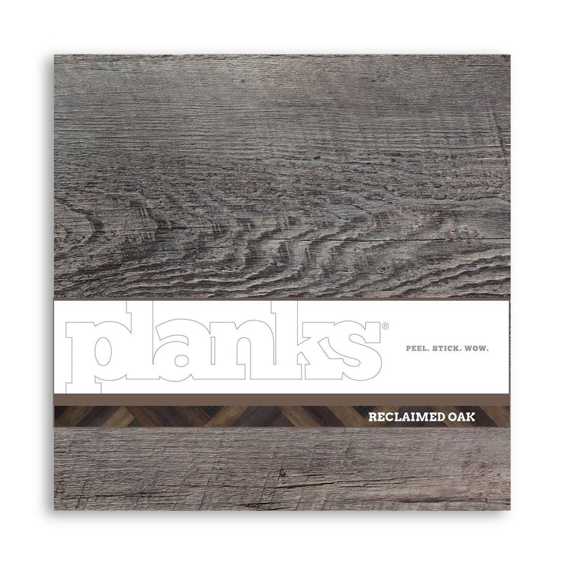 Planks - Reclaimed Gray Oak Wood Look Peel and Stick Wall Planks - 7 - Inhabit