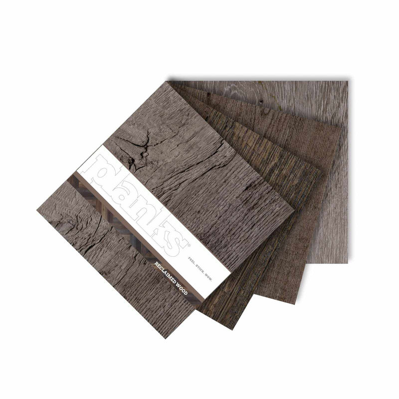 Planks - Reclaimed Wood Look Peel and Stick Wall Planks - 10 - Inhabit