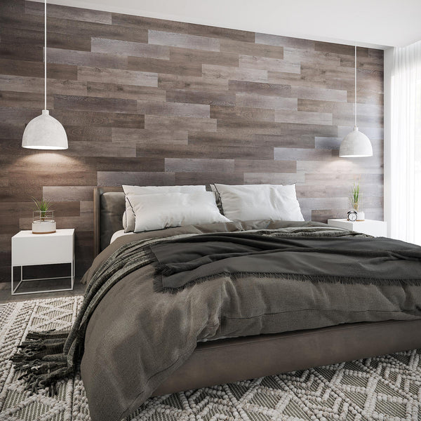 Reclaimed Wood Look Peel and Stick Wall Planks - Planks - 2 - Inhabit