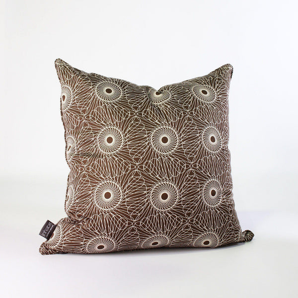 Studio Pillows - Rhythm in Chocolate Studio Throw Pillow - 1 - Inhabit
