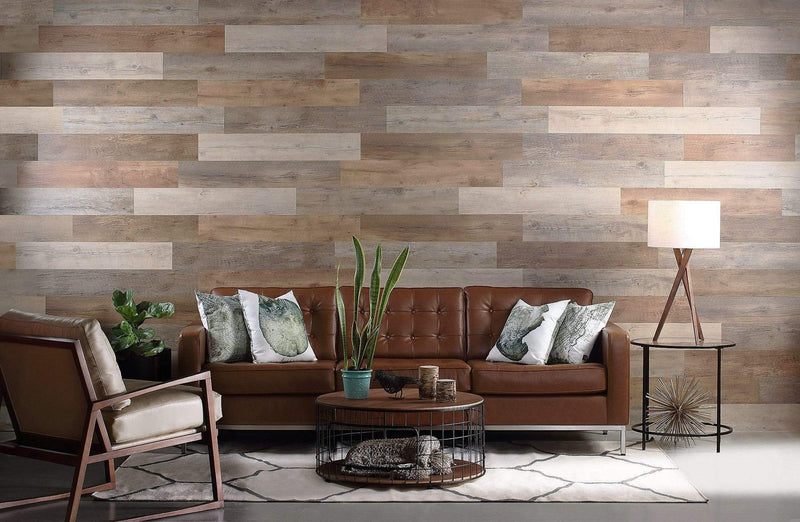 Planks - Salvaged Pallet Wood Look Peel and Stick Wall Planks - 3 - Inhabit