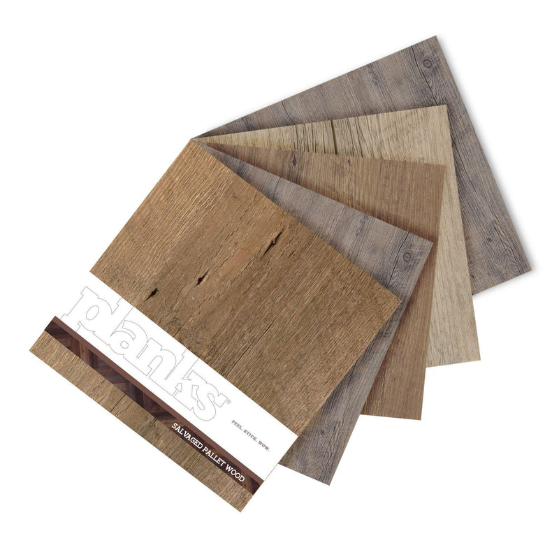 Variplank - Salvaged Pallet Wood Peel + Stick Wood Look Herringbone Variplanks - 6 - Inhabit
