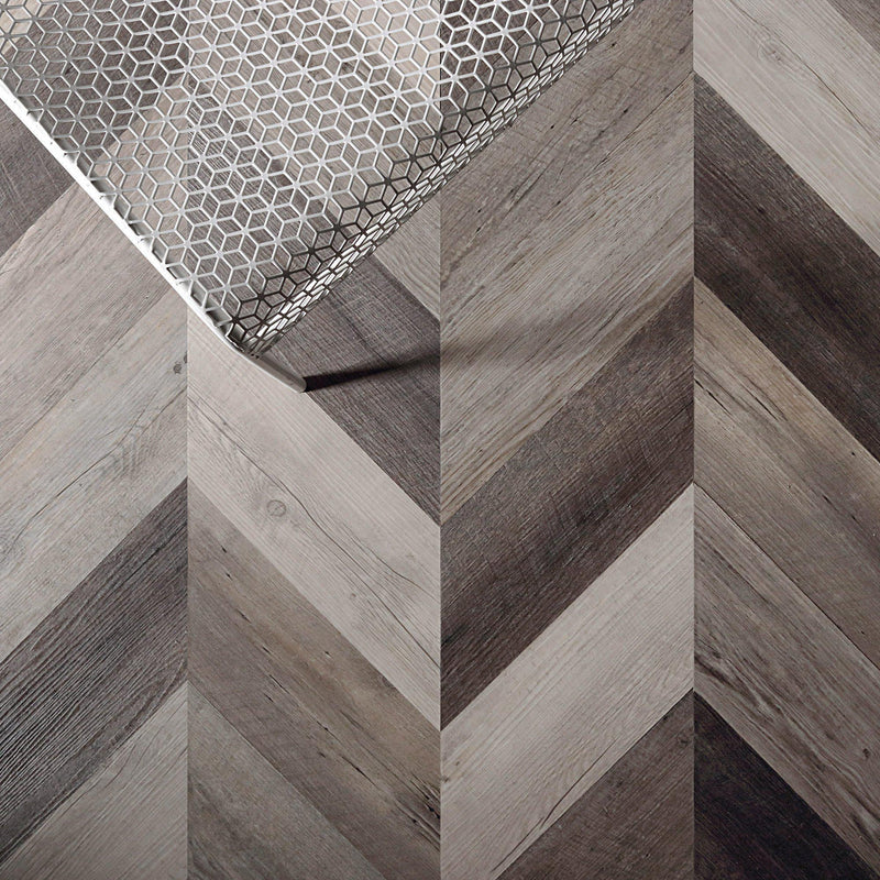 Scrap Wood Peel + Stick Wood Look Herringbone Variplanks - Variplank - 2 - Inhabit