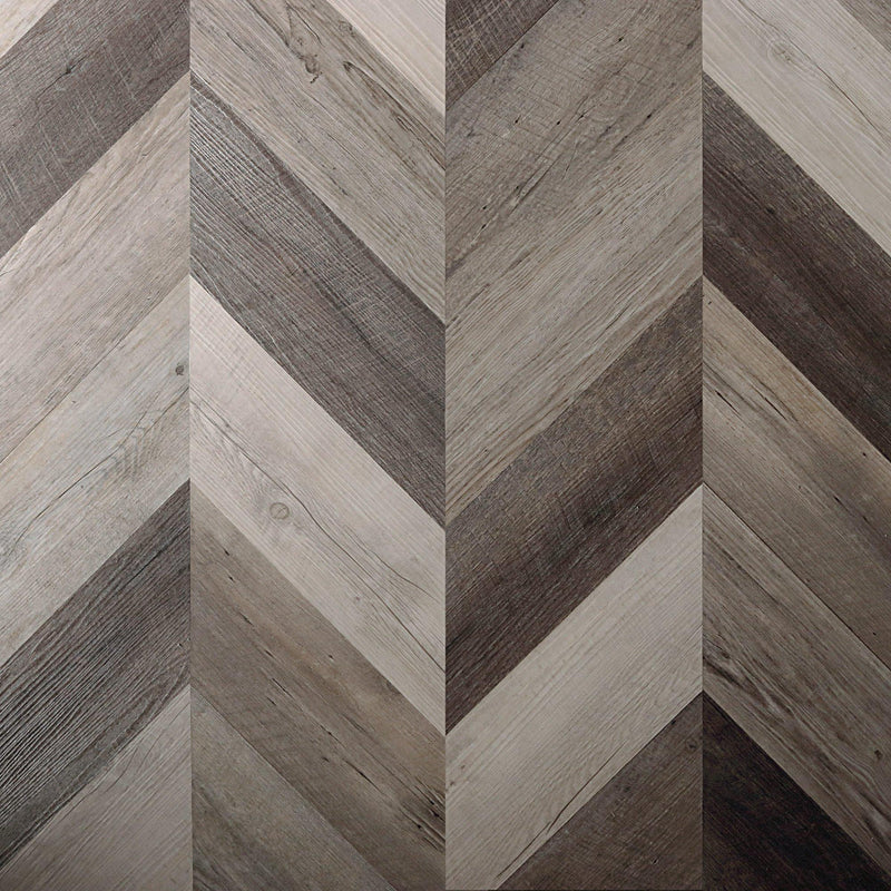 Scrap Wood Peel + Stick Wood Look Herringbone Variplanks - Variplank - 1 - Inhabit