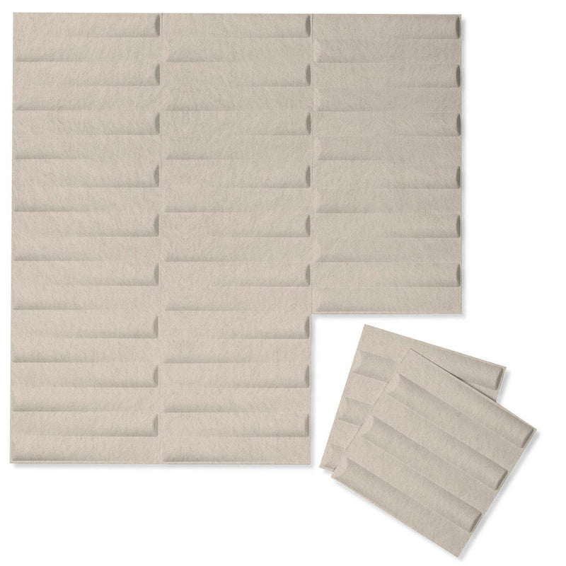 Felt 3D Wall Flats - Acoustic Panels - Seesaw 3D PET Felt Wall Flats - 8 - Inhabit