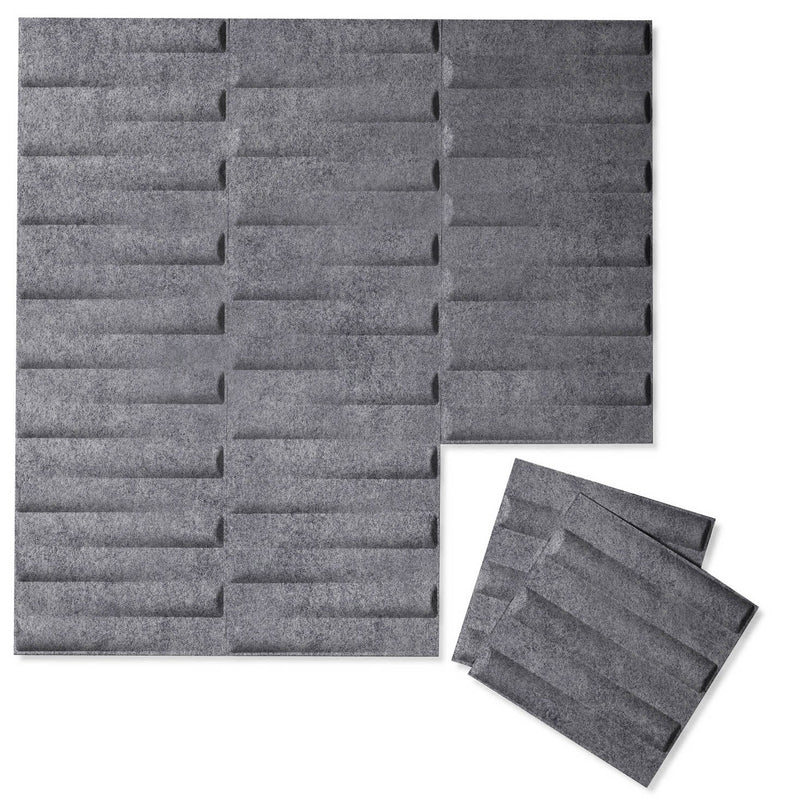Felt 3D Wall Flats - Acoustic Panels - Seesaw 3D Wool Felt Wall Flats - 7 - Inhabit