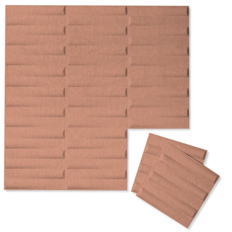 Felt 3D Wall Flats - Acoustic Panels - Seesaw 3D Wool Felt Wall Flats - 12 - Inhabit