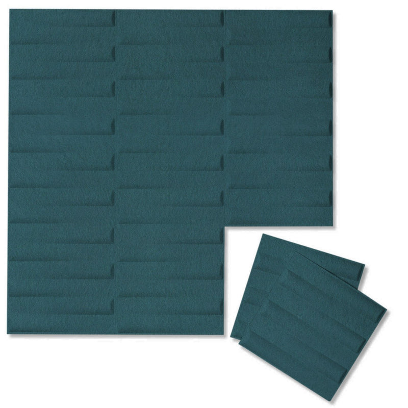 Felt 3D Wall Flats - Acoustic Panels - Seesaw 3D Wool Felt Wall Flats - 15 - Inhabit