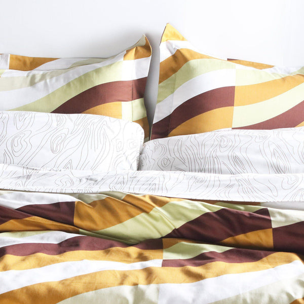 Bedding - Soak in Amber Duvet Cover + Sham Set - 1 - Inhabit