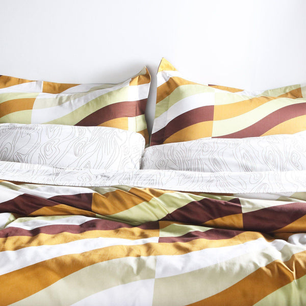 Bedding - Soak in Amber Duvet Cover + Sham Set - 2 - Inhabit