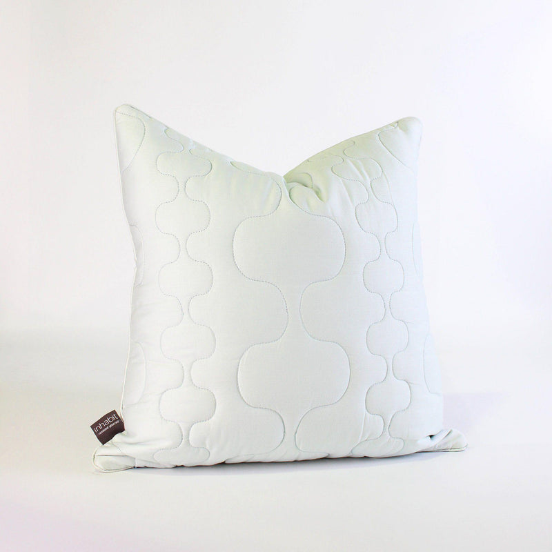 Studio Pillows - Spa in Mist Quilted Studio Throw Pillow - 1 - Inhabit