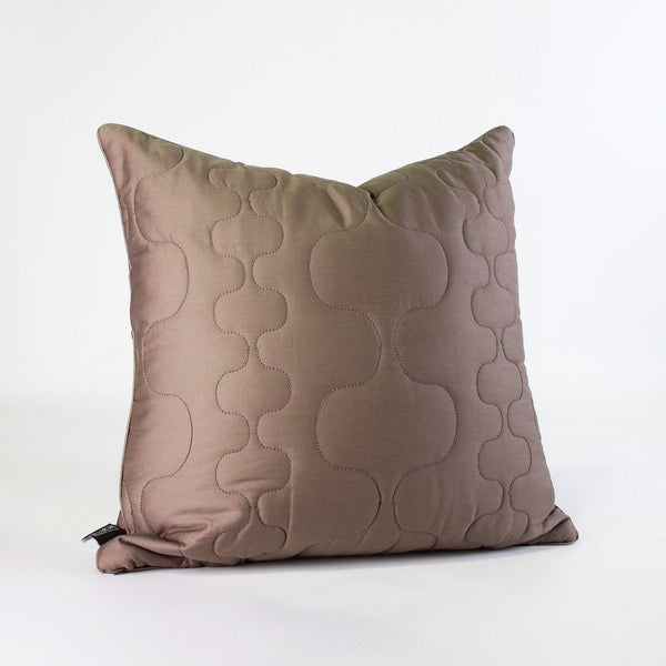 Studio Pillows - Spa in Natural Quilted Studio Throw Pillow - 1 - Inhabit