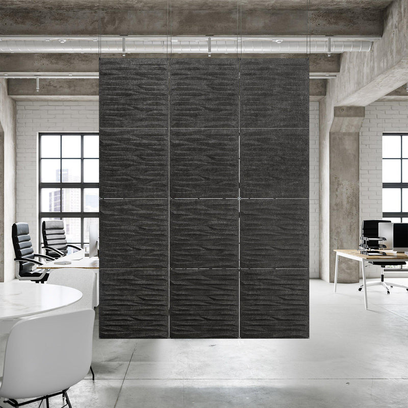 Acoustic Hanging Wall Panel | Room Divider - Split 3D PET Felt Hanging Wall Flat System - 5 - Inhabit