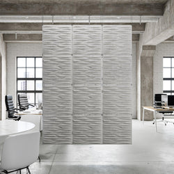 Acoustic Hanging Wall Panel | Room Divider - Split 3D PET Felt Hanging Wall Flat System - 1 - Inhabit