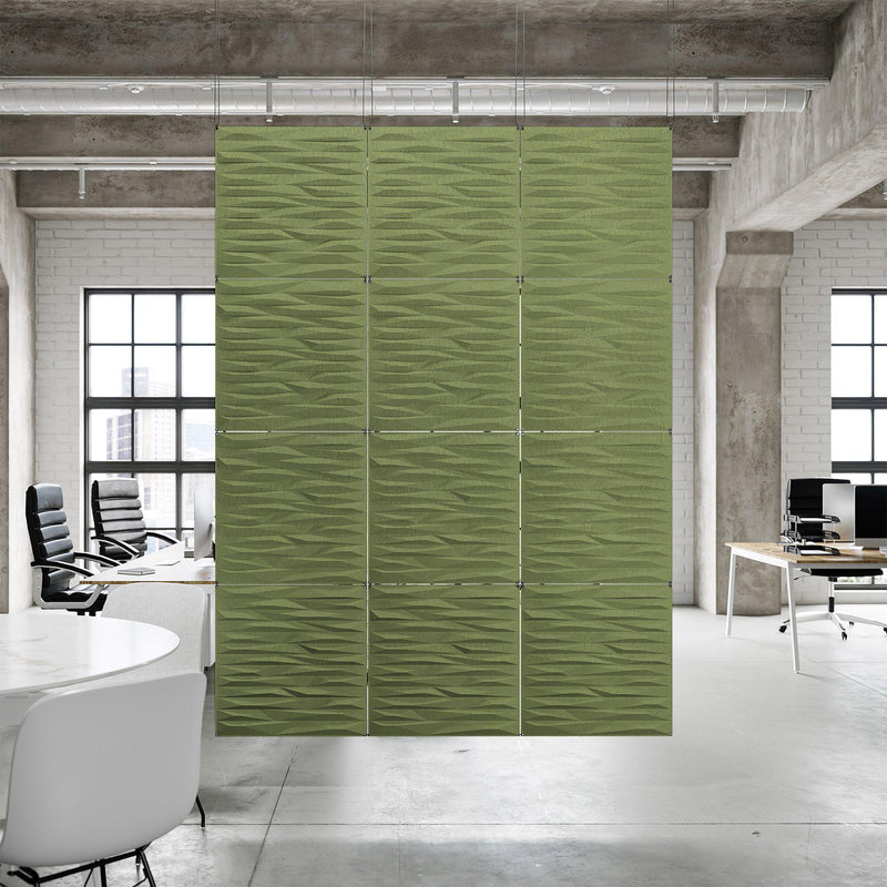 Acoustic Hanging Wall Panel | Room Divider - Split 3D PET Felt Hanging Wall Flat System - 10 - Inhabit