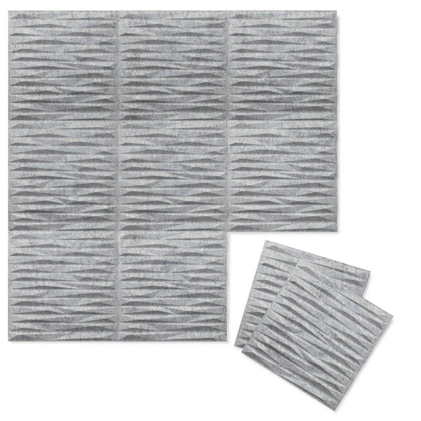 Split 3D Wool Felt Wall Flats - Felt 3D Wall Flats - Acoustic Panels - 2 - Inhabit