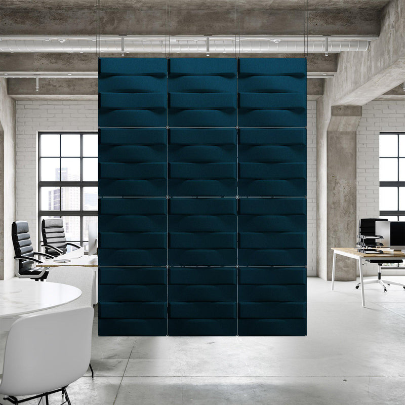 Acoustic Hanging Wall Panel | Room Divider - Stitch 3D PET Felt Hanging Wall Flat System - 9 - Inhabit