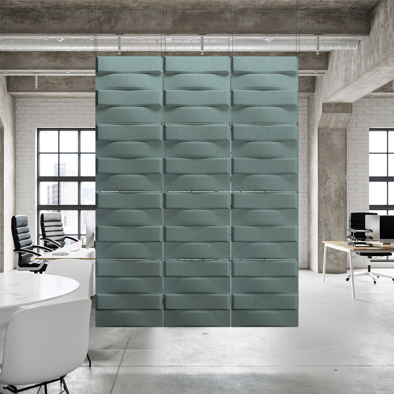 Acoustic Hanging Wall Panel | Room Divider - Stitch 3D PET Felt Hanging Wall Flat System - 7 - Inhabit