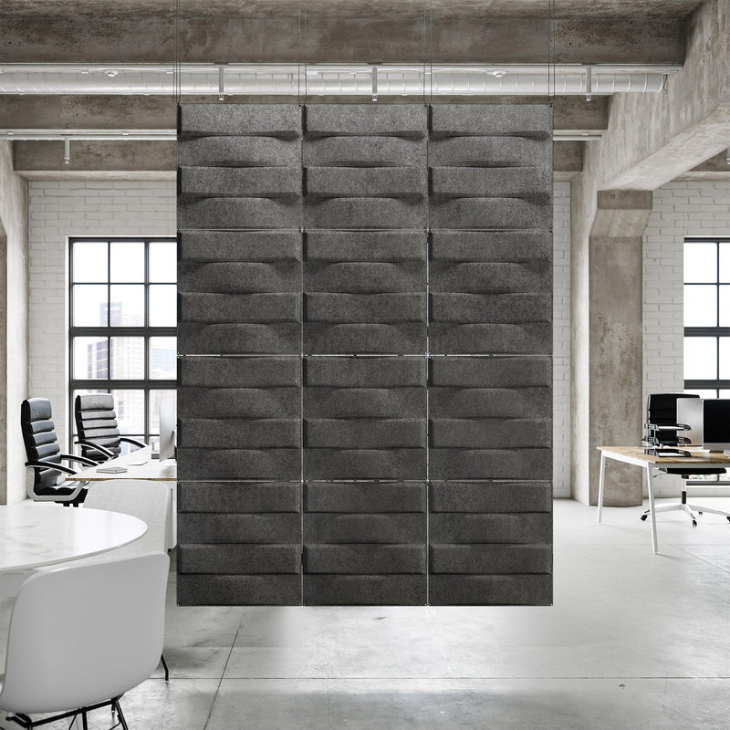 Acoustic Hanging Wall Panel | Room Divider - Stitch 3D PET Felt Hanging Wall Flat System - 4 - Inhabit