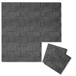 Felt 3D Wall Flats - Acoustic Panels - Stitch 3D PET Felt Wall Flats - 1 - Inhabit