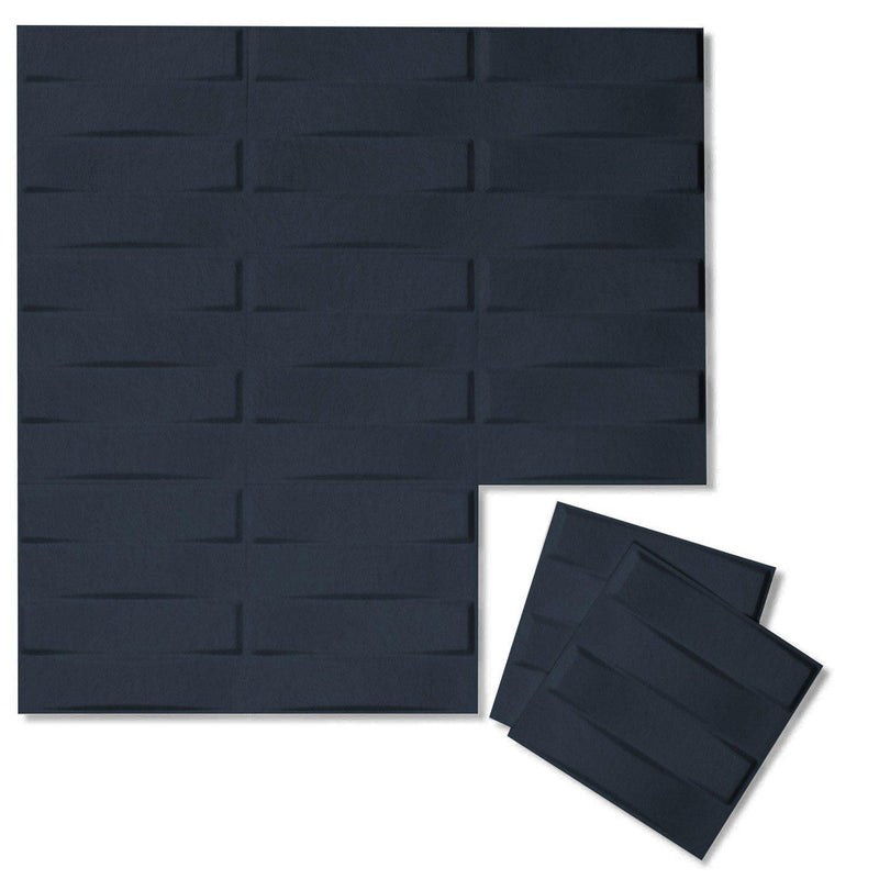 Felt 3D Wall Flats - Acoustic Panels - Stitch 3D PET Felt Wall Flats - 12 - Inhabit