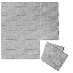 Felt 3D Wall Flats - Acoustic Panels - Stitch 3D Wool Felt Wall Flats - 1 - Inhabit