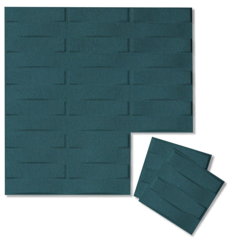 Felt 3D Wall Flats - Acoustic Panels - Stitch 3D Wool Felt Wall Flats - 15 - Inhabit