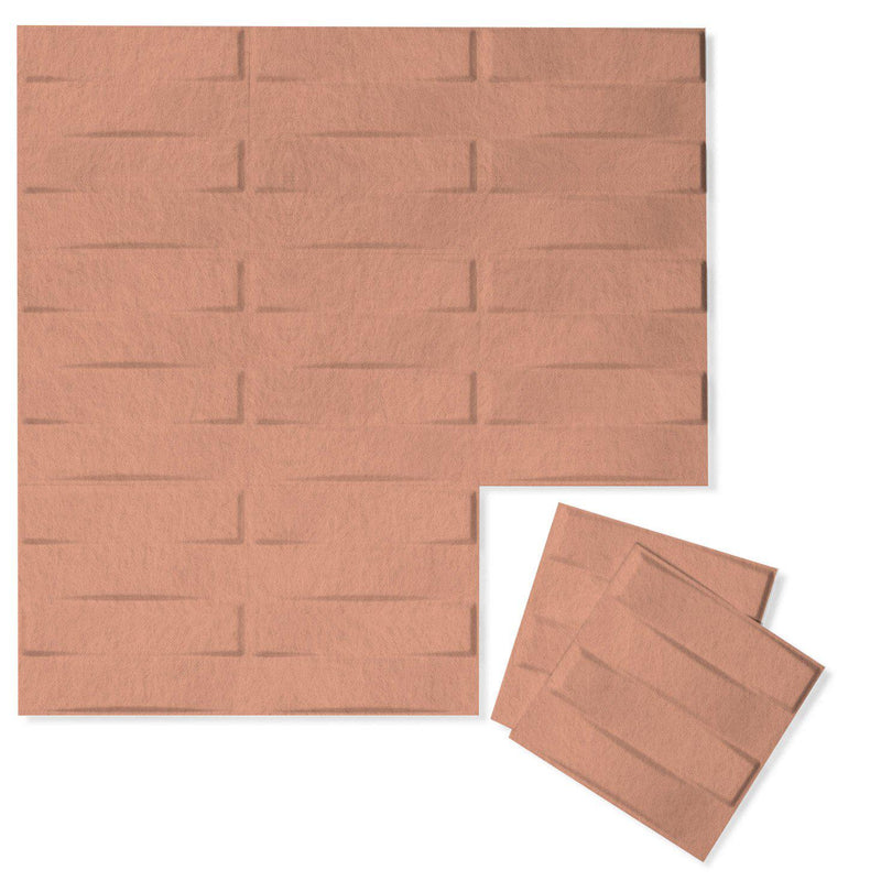 Felt 3D Wall Flats - Acoustic Panels - Stitch 3D Wool Felt Wall Flats - 12 - Inhabit