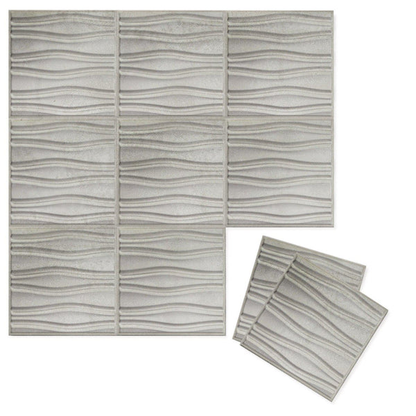 Luxe Supermatte Wall Flats - 3D Wall Panels - Swell 3D Luxe Wall Flats - 1 - Inhabit