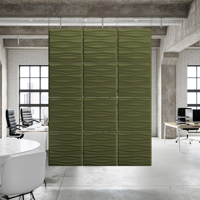 Acoustic Hanging Wall Panel | Room Divider - Swell 3D PET Felt Hanging Wall Flat System - 6 - Inhabit
