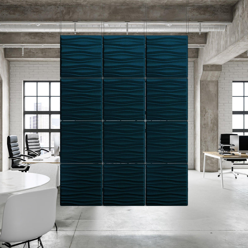 Acoustic Hanging Wall Panel | Room Divider - Swell 3D PET Felt Hanging Wall Flat System - 9 - Inhabit
