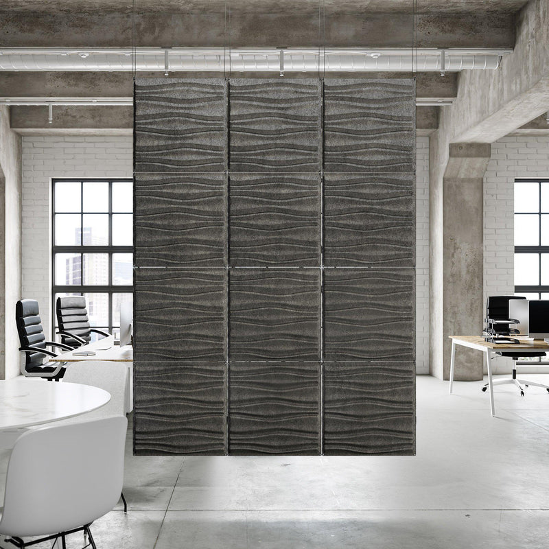 Acoustic Hanging Wall Panel | Room Divider - Swell 3D PET Felt Hanging Wall Flat System - 4 - Inhabit
