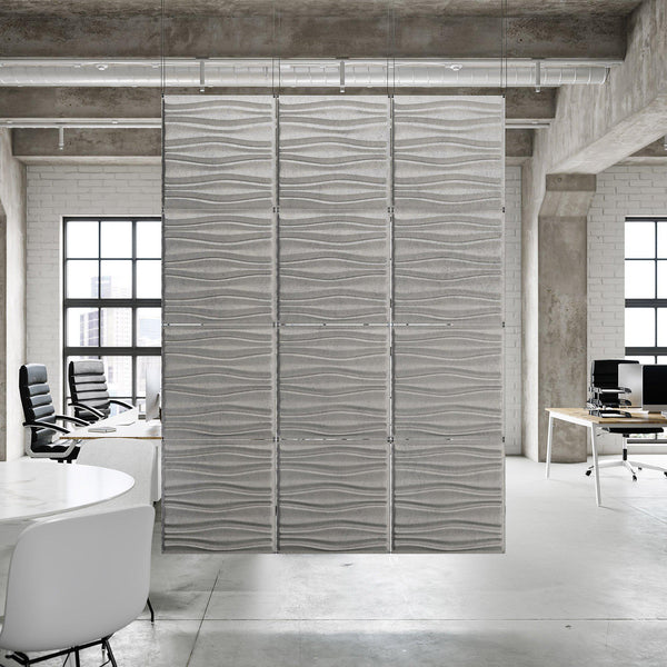 Acoustic Hanging Wall Panel | Room Divider - Swell 3D PET Felt Hanging Wall Flat System - 1 - Inhabit