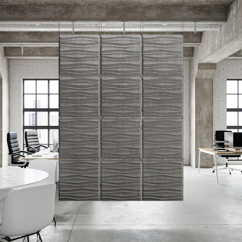Acoustic Hanging Wall Panel | Room Divider - Swell 3D PET Felt Hanging Wall Flat System - 3 - Inhabit