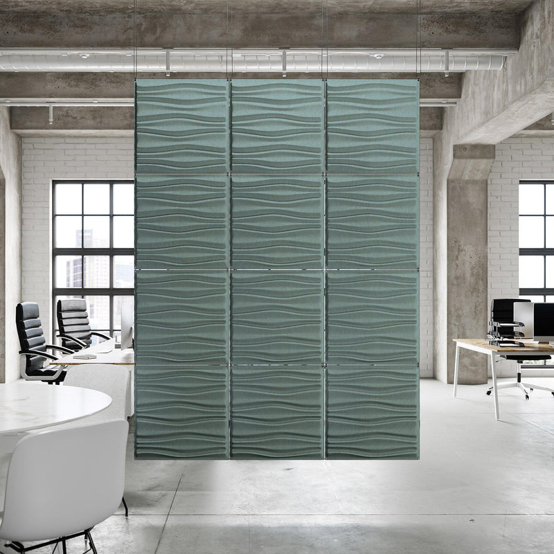 Acoustic Hanging Wall Panel | Room Divider - Swell 3D PET Felt Hanging Wall Flat System - 7 - Inhabit