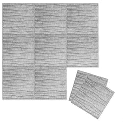 Felt 3D Wall Flats - Acoustic Panels - Swell 3D PET Felt Wall Flats - 3 - Inhabit