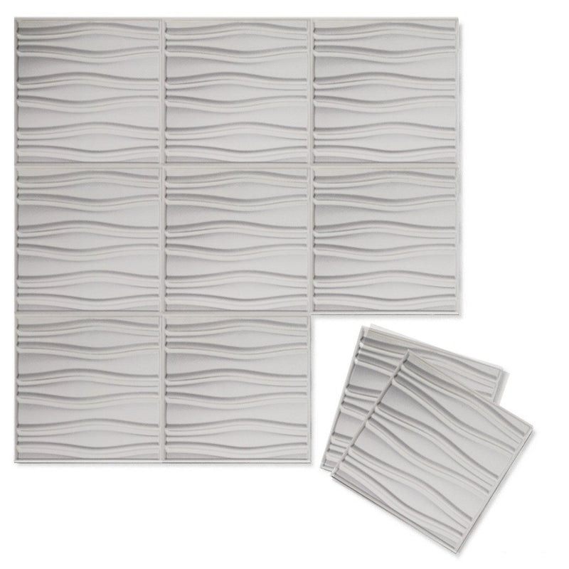 Luxe Supermatte Wall Flats - 3D Wall Panels - Swell 3D Supermatte Wall Flats - 5 - Inhabit
