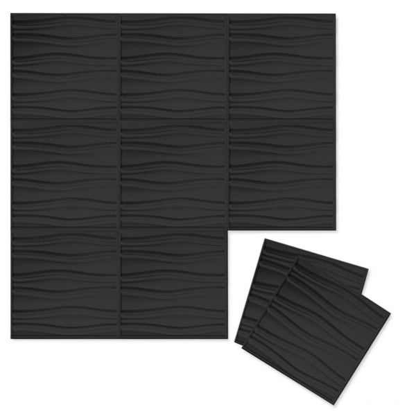 Luxe Supermatte Wall Flats - 3D Wall Panels - Swell 3D Supermatte Wall Flats - 1 - Inhabit