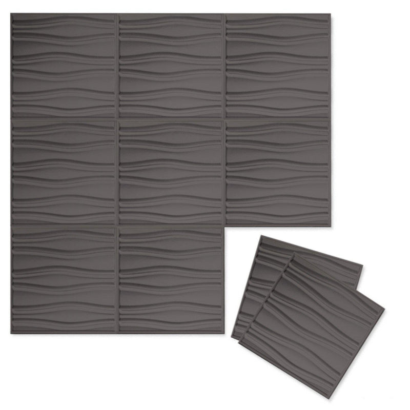 Luxe Supermatte Wall Flats - 3D Wall Panels - Swell 3D Supermatte Wall Flats - 7 - Inhabit