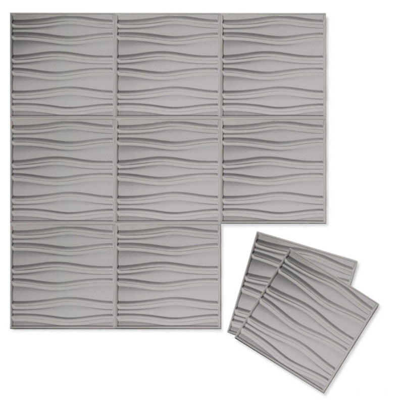 Luxe Supermatte Wall Flats - 3D Wall Panels - Swell 3D Supermatte Wall Flats - 6 - Inhabit