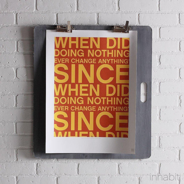 "Since When in Rust & Sunflower Print - 18"" x24""- Art Prints - Inhabitliving.com - Inhabit - 1"