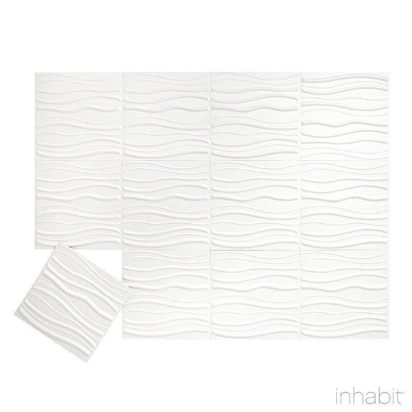Tierra Wall Flats - 3D Wall Panels - Sample Panel- Wall Flats - 3D Wall Panels - Inhabitliving.com - Inhabit - 2