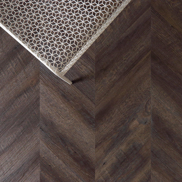 Variplank - Vintage Chestnut Peel + Stick Wood Look Herringbone Variplanks - 2 - Inhabit