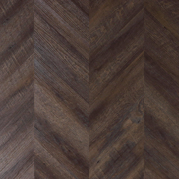 Variplank - Vintage Chestnut Peel + Stick Wood Look Herringbone Variplanks - 1 - Inhabit