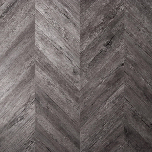 Weathered Barnwood Peel + Stick Wood Look Herringbone Variplanks - Variplank - 1 - Inhabit