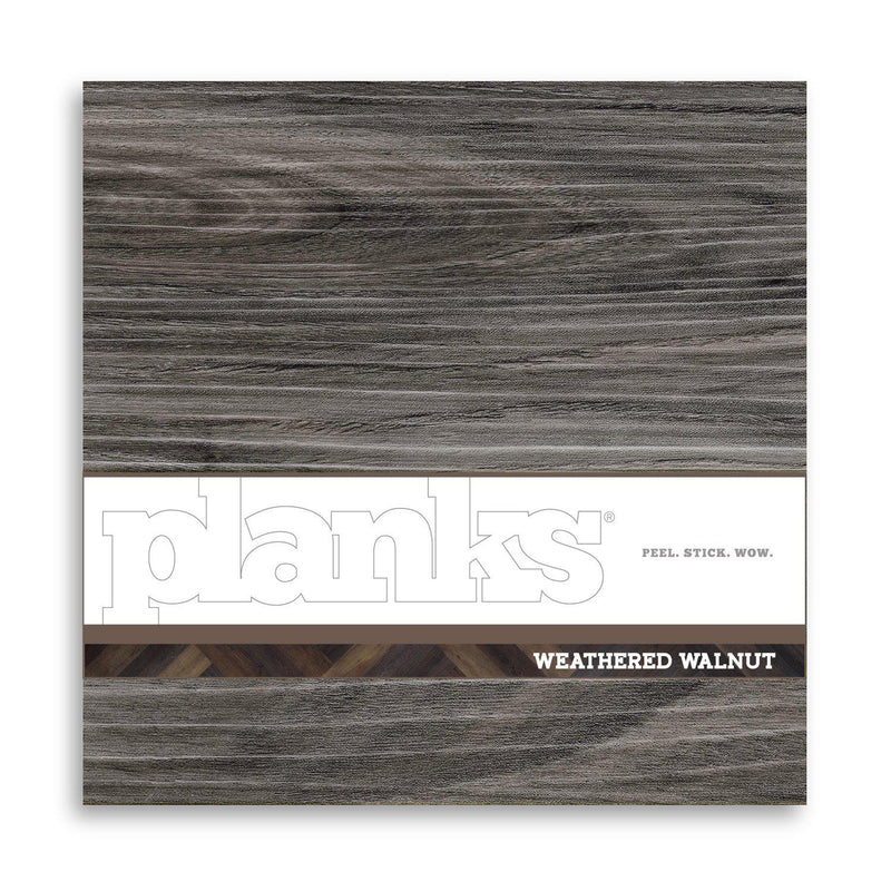 Variplank - Weathered Walnut Peel + Stick Wood Look Herringbone Variplanks - 3 - Inhabit